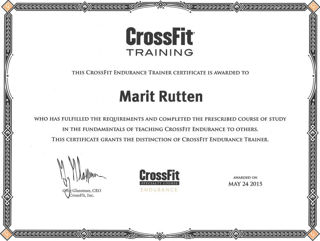 CrossFit Endurance Trainer Certificate