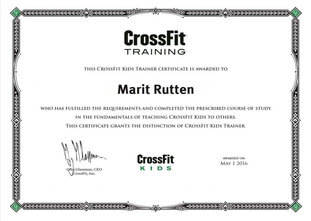 CrossFit Kids Trainer Certificate