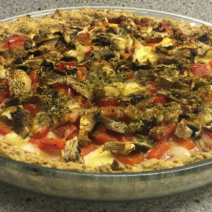 Havermout- en amandelmeel pizza