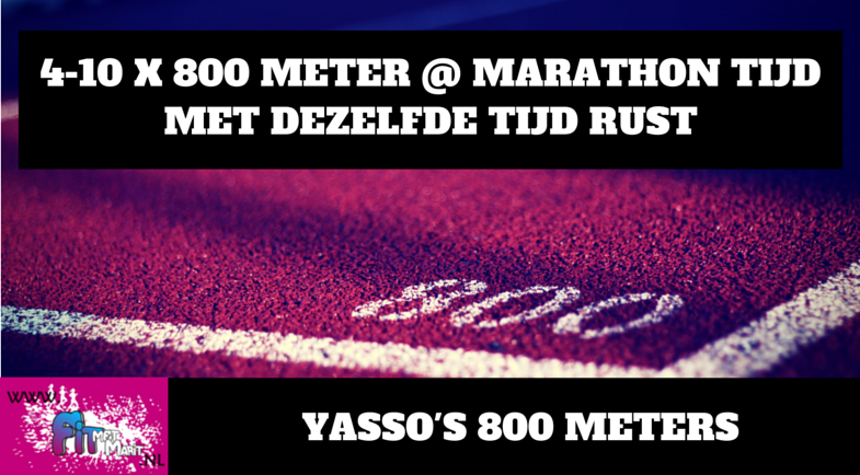 Tempotraining: Yasso's 800 meters